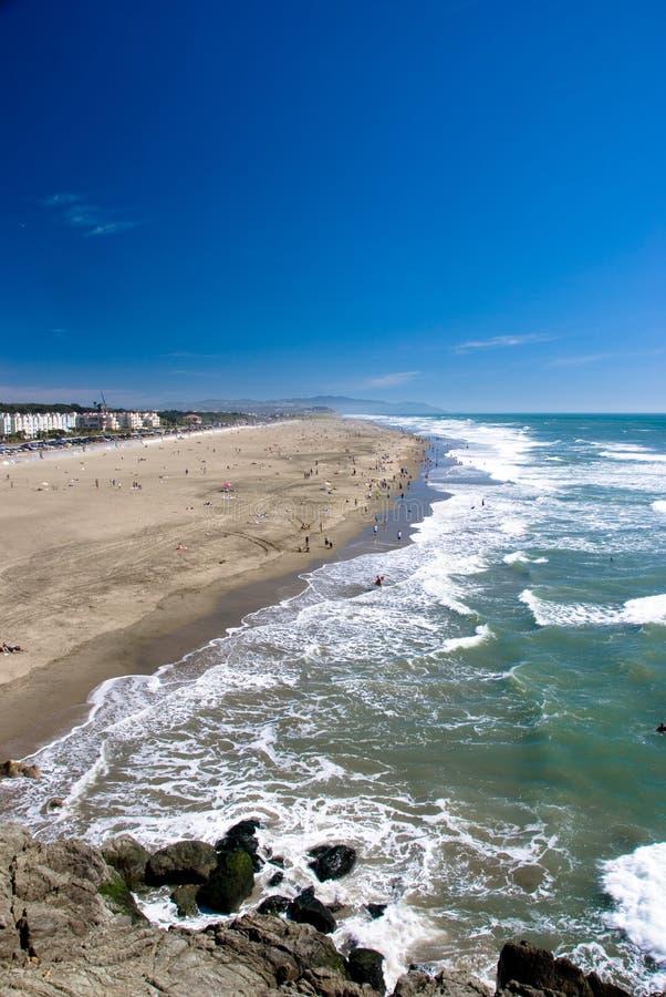 海滩弗朗西斯科海洋圣 免版税库存图片