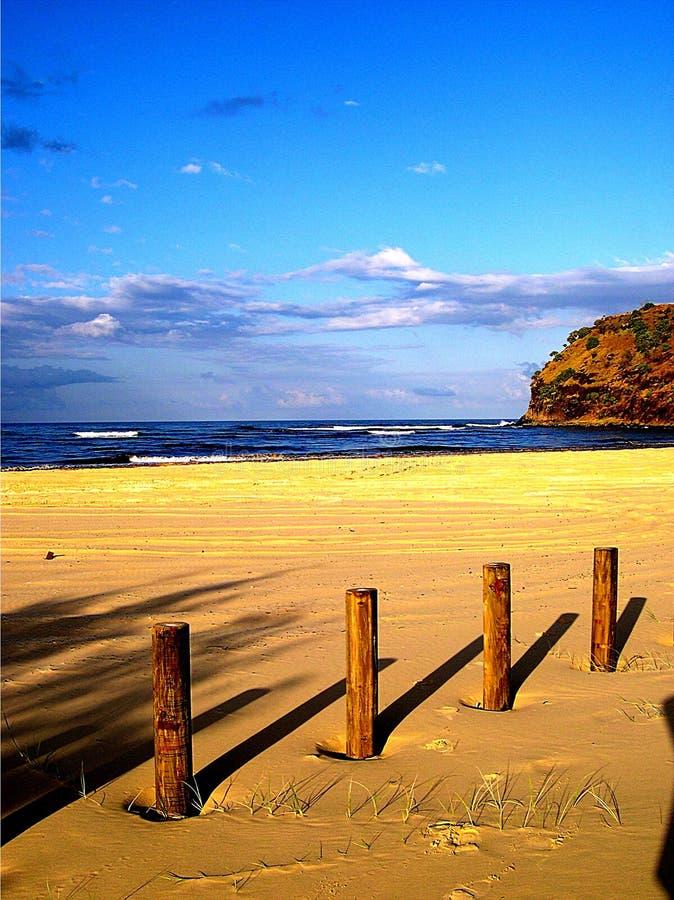 海滩影子 库存图片