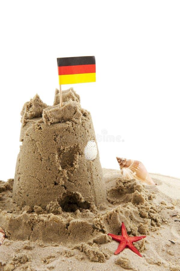 海滩德语 库存图片