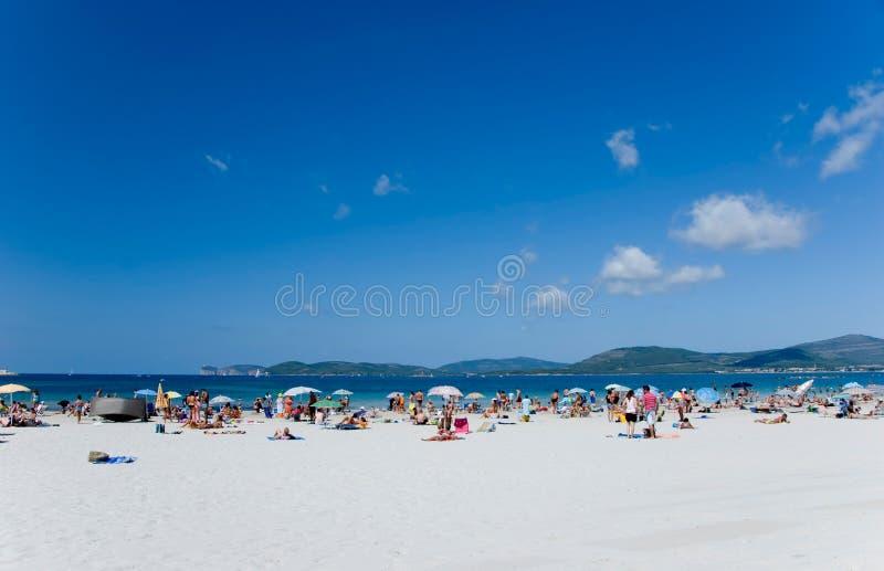 海滩意大利语 库存图片