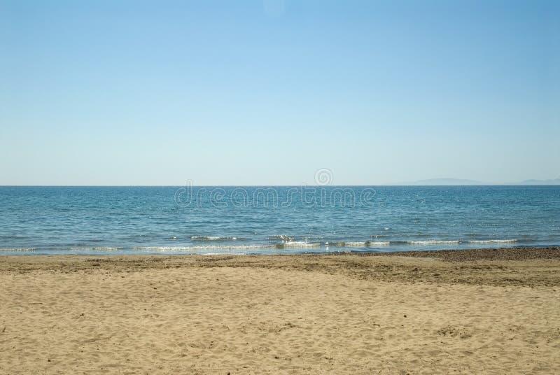 海滩意大利语 免版税库存照片