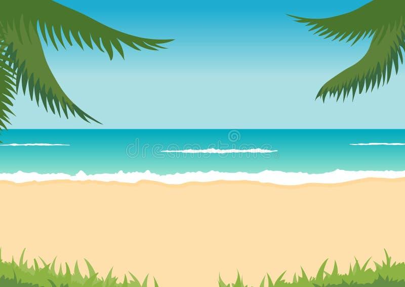海滩掌上型计算机海运通知 皇族释放例证