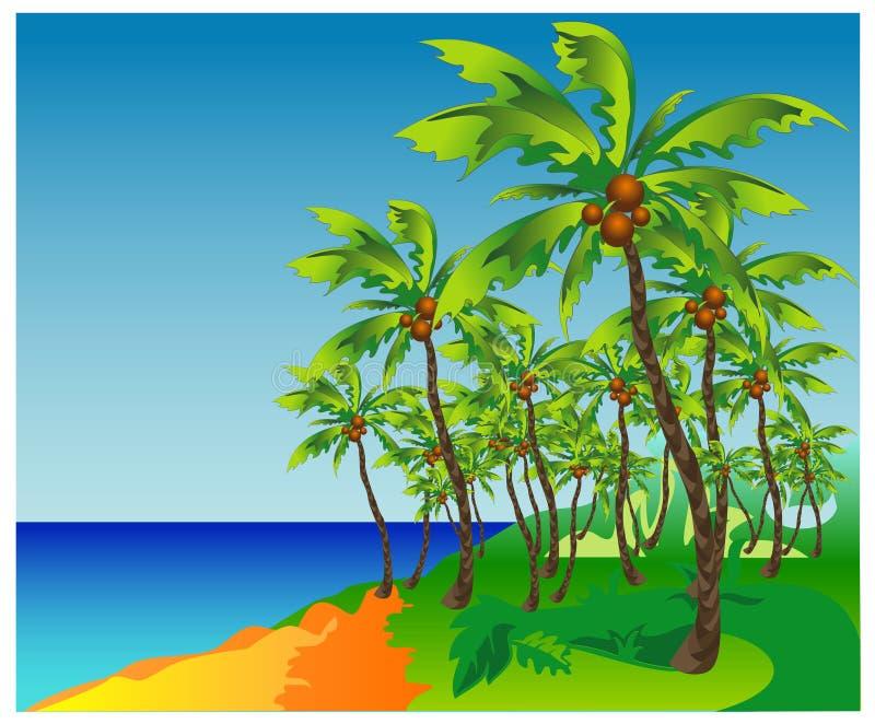 海滩掌上型计算机 向量例证