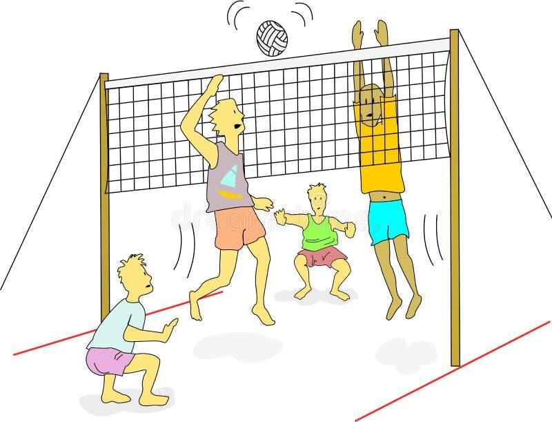 海滩排球 库存例证