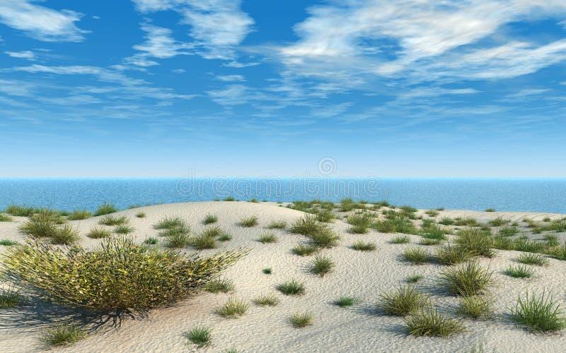 海滩放牧沙子 库存例证