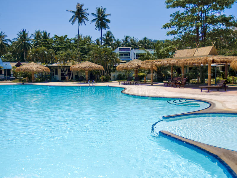 海滩旅馆 库存照片