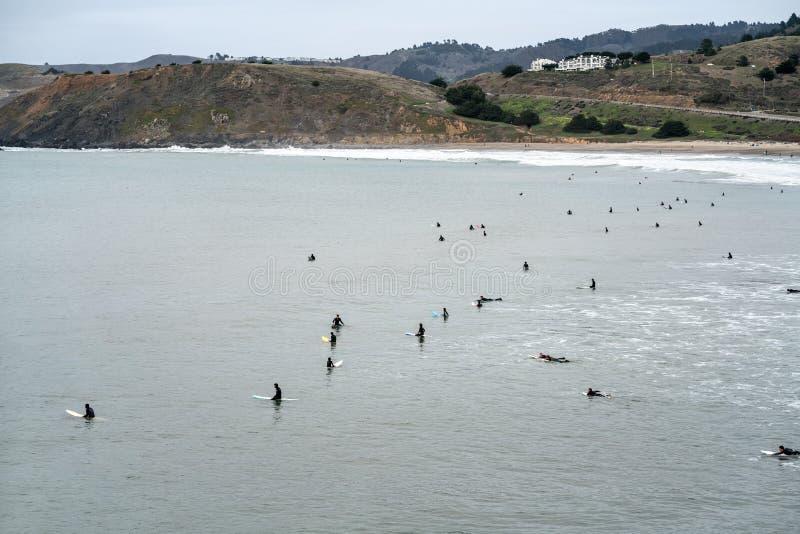 海滩旧金山 库存照片