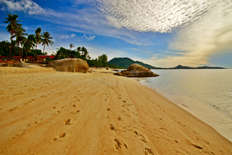 海滩早晨 图库摄影