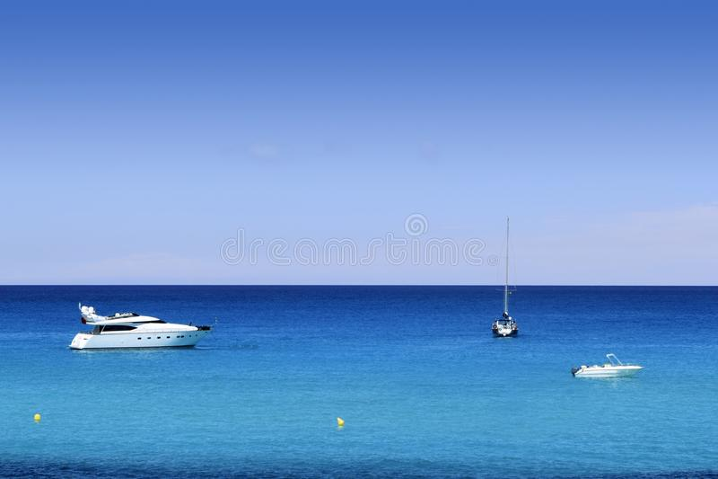 海滩最佳的cala formentera地中海saona 免版税图库摄影