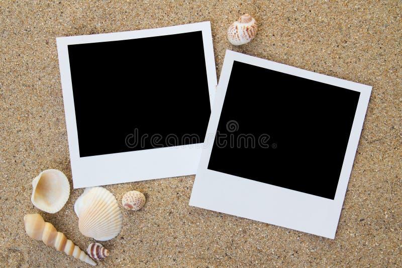 海滩构成照片夏天 免版税库存照片