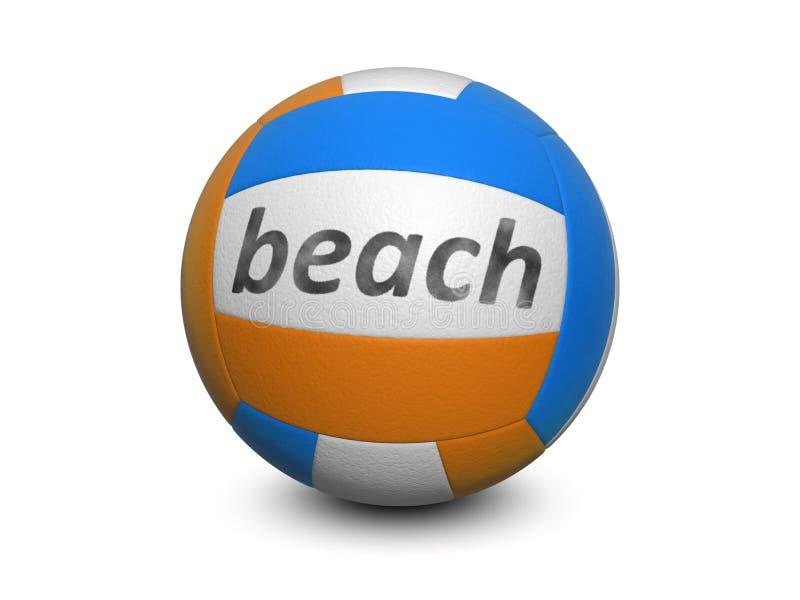 海滩查出的排球白色 库存例证