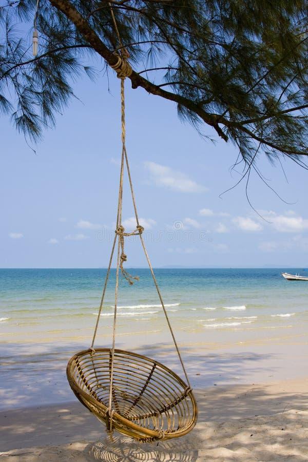 海滩柬埔寨 库存照片
