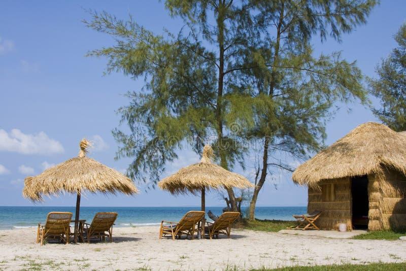 海滩柬埔寨 免版税库存图片