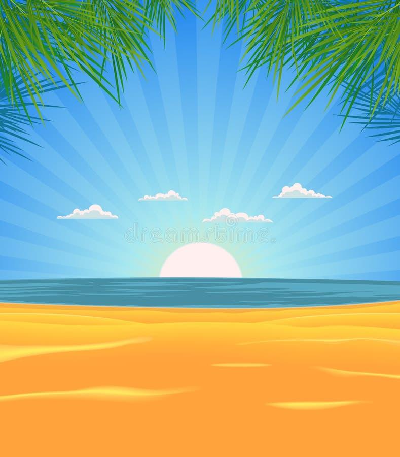 海滩横向夏天 皇族释放例证