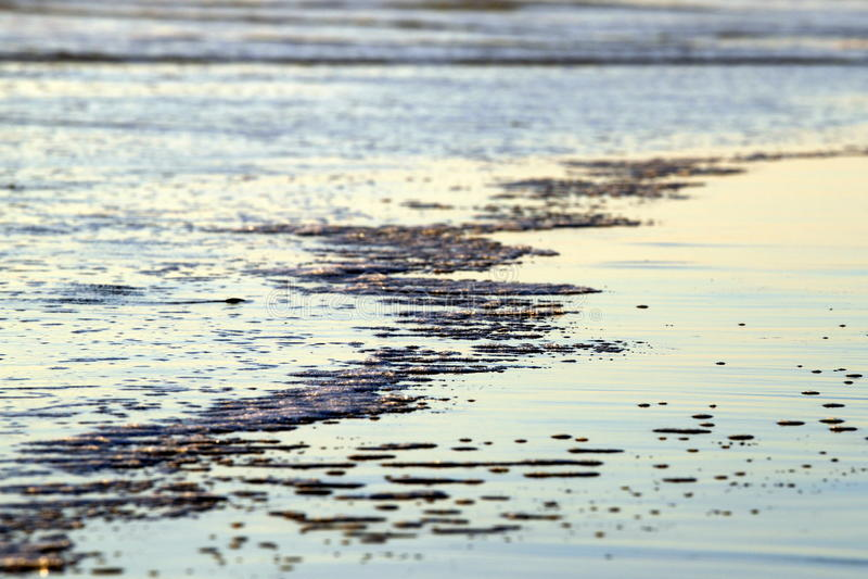 海滩水 免版税库存图片