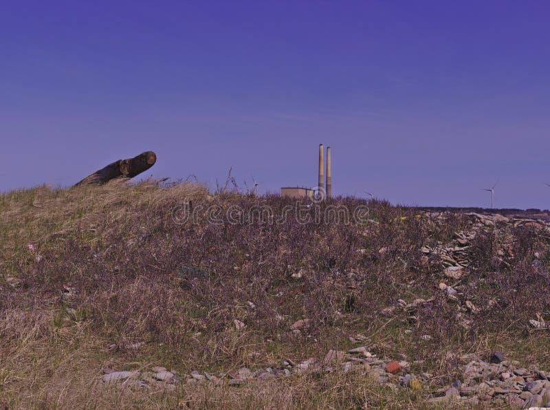 海滩沙丘能源厂3497 库存照片