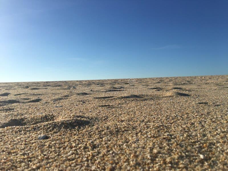 海滩沙子纹理 免版税库存照片