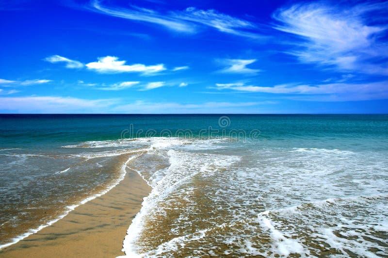 海滩沙子 免版税图库摄影