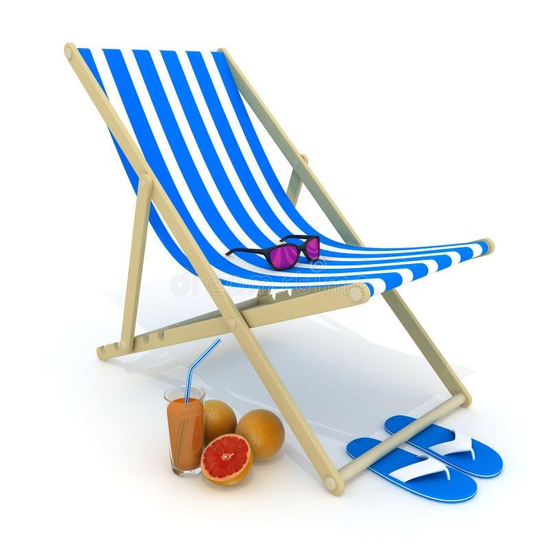 海滩河床蓝色 库存例证