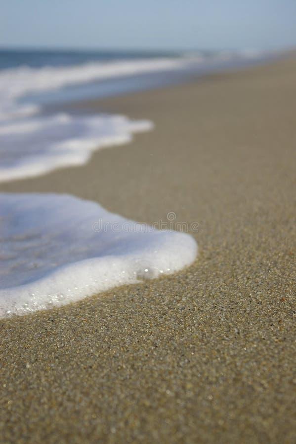 海滩泡沫 图库摄影
