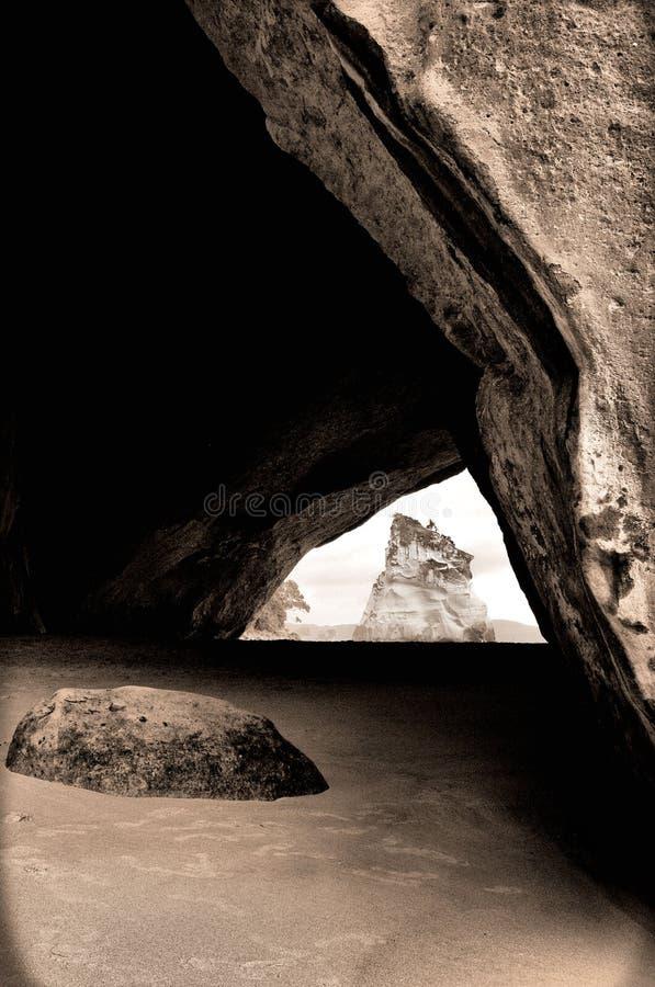海滩洞 库存照片