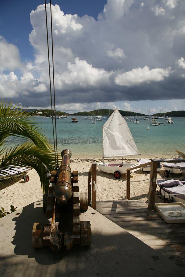 海滩海岛圣徒场面托马斯我们处女 免版税库存照片