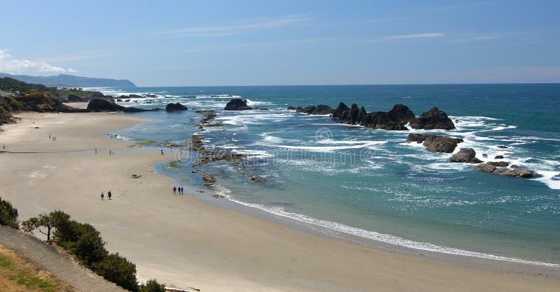 海滩海岸俄勒冈view2 库存图片