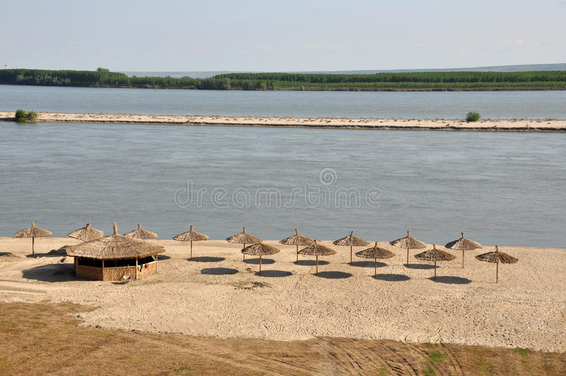 海滩海岸多瑙河 库存照片