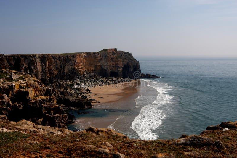 海滩海岸线pembrokeshire 图库摄影