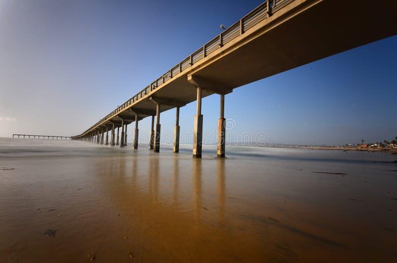 海滩海洋码头 免版税库存图片