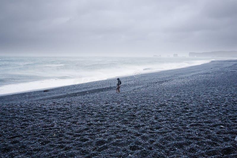 海滩海洋风暴 库存照片