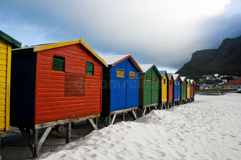 海滩海角小屋城镇 免版税库存图片
