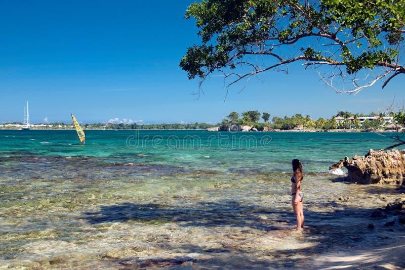 海滩牙买加 库存图片
