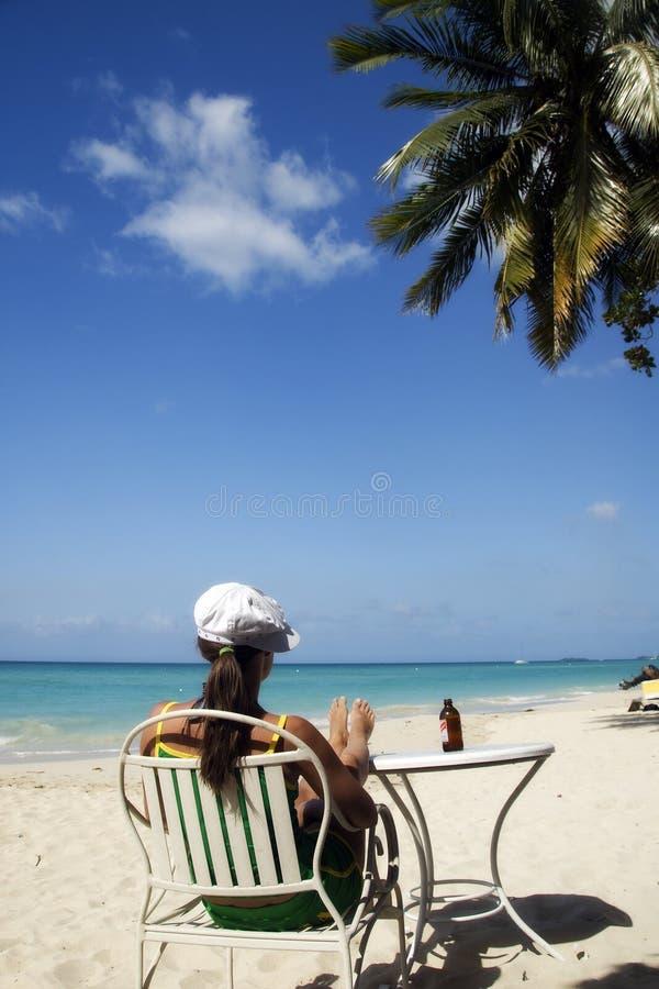 海滩牙买加 图库摄影