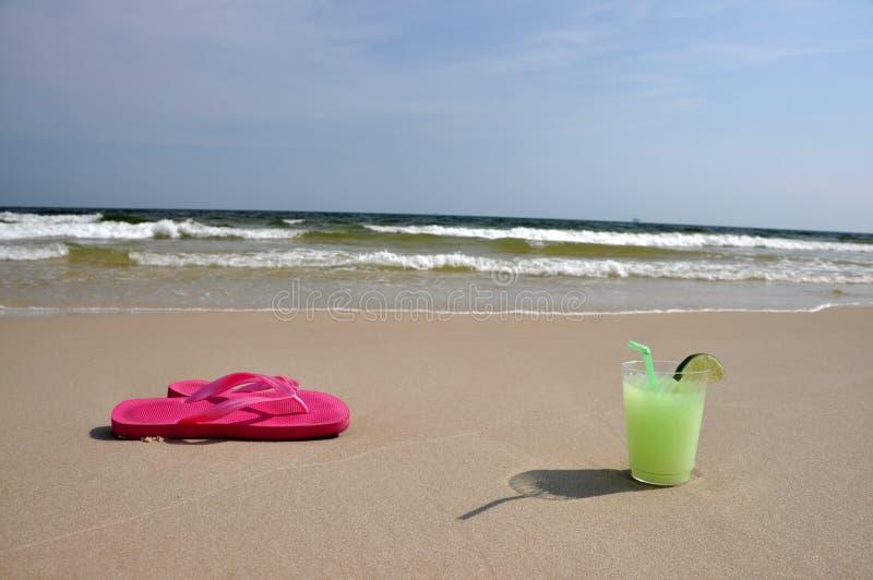 海滩玛格丽塔酒 库存图片