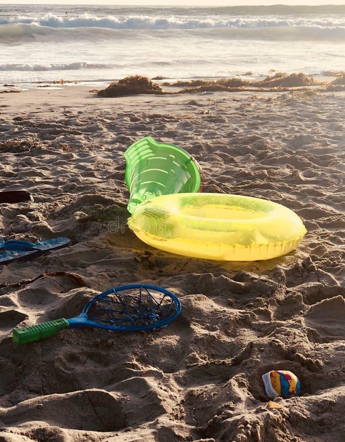 海滩玩具 免版税库存照片