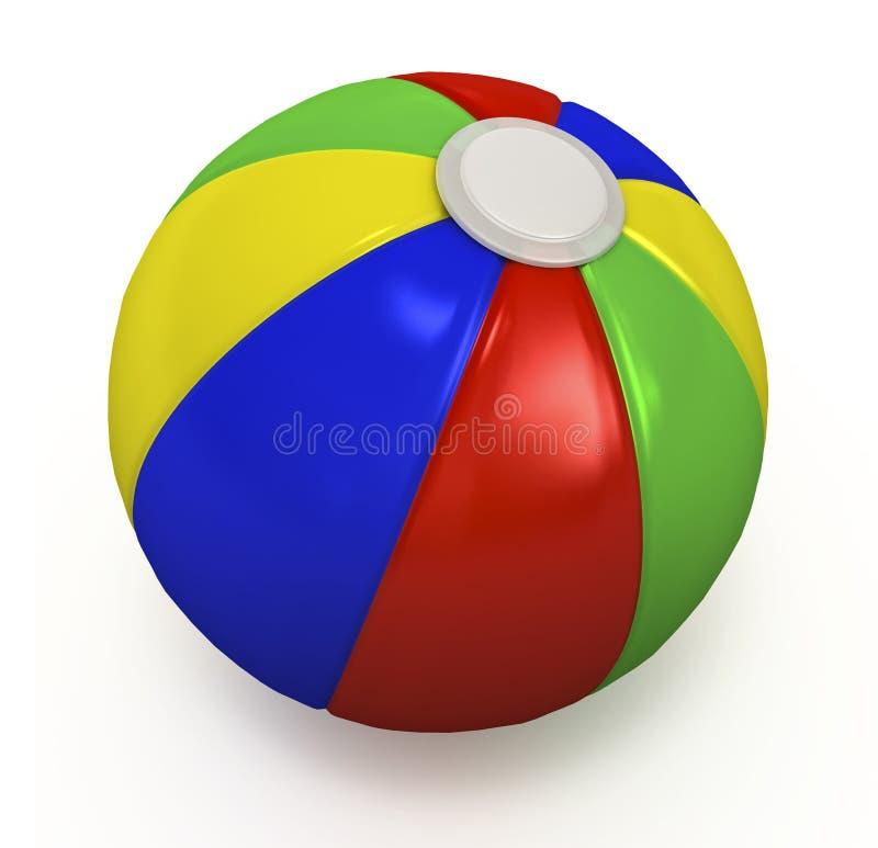 海滩球。 皇族释放例证