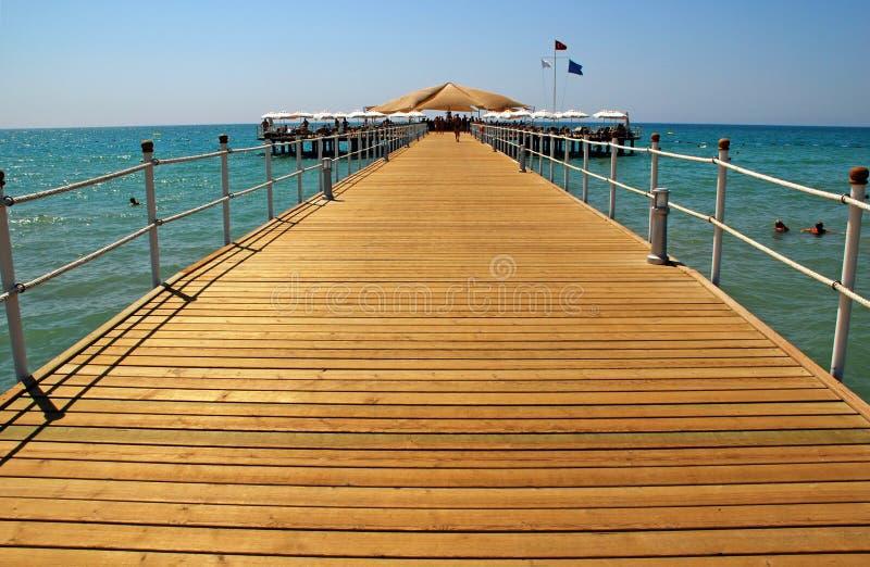 海滩甲板地中海手段海运火鸡 图库摄影