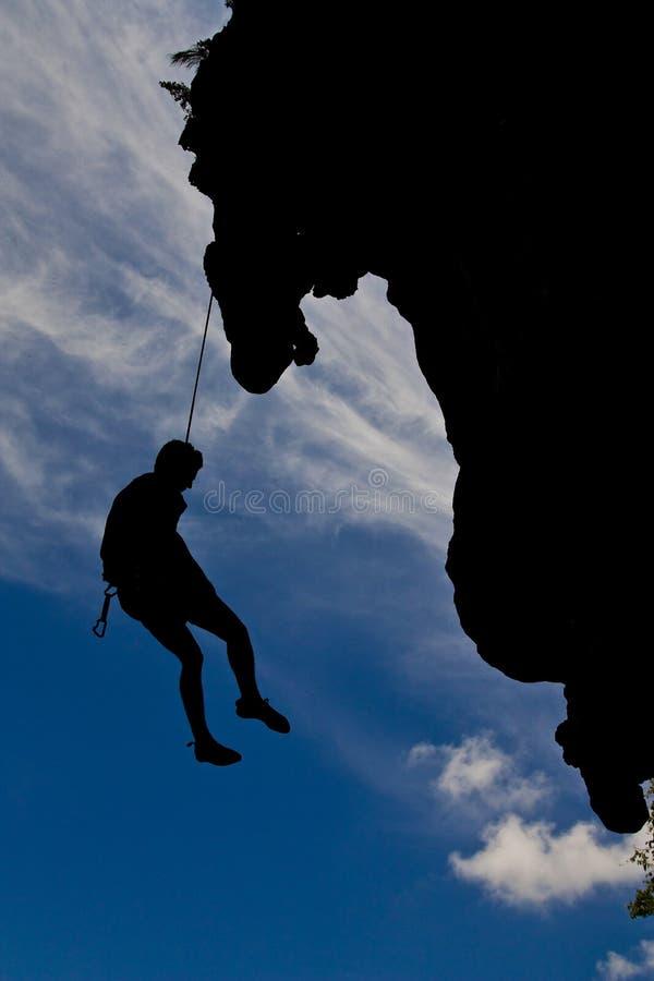 海滩登山人位置山rai南泰国 免版税库存图片