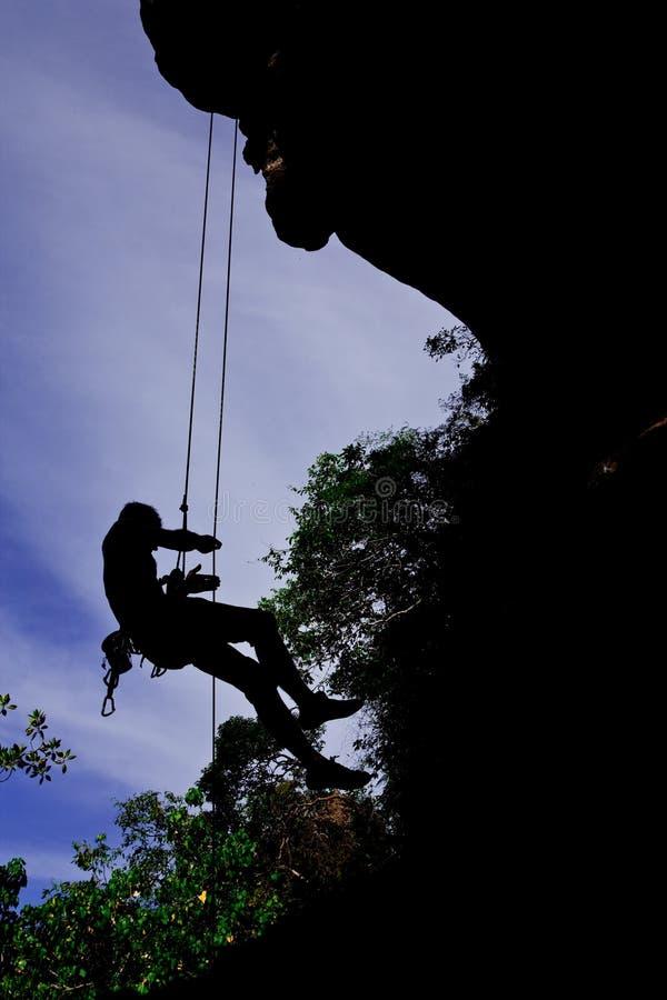 海滩登山人位置山rai南泰国 图库摄影