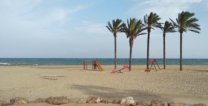 海滩的操场 库存照片