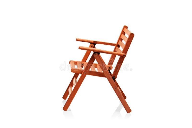 海滩睡椅折叠木 免版税库存照片
