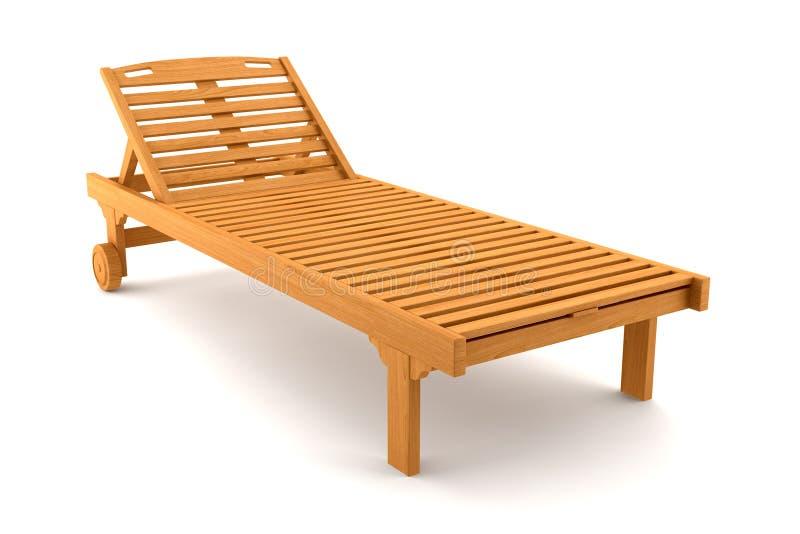 海滩睡椅查出的空白木 向量例证