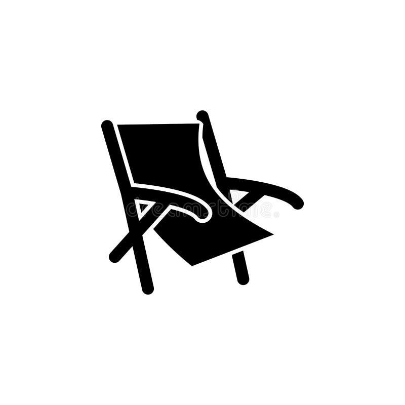 海滩睡椅象 海滩流动概念和网apps的假日象的元素 孤立海滩椅子象可以为的网使用 皇族释放例证