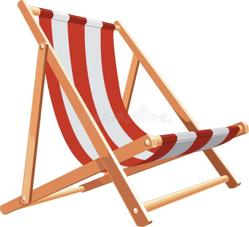 海滩睡椅 皇族释放例证