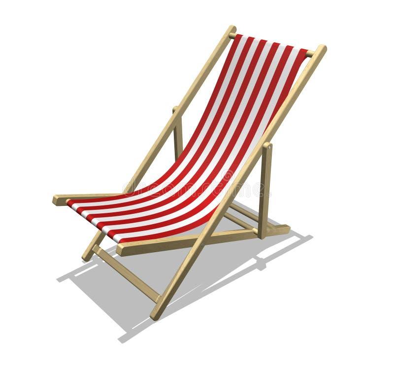 海滩睡椅 库存例证