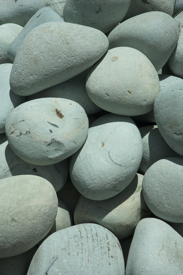 海滩石头 免版税库存图片