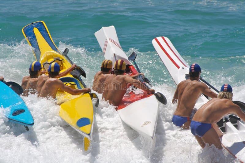 海滩种族 免版税库存照片