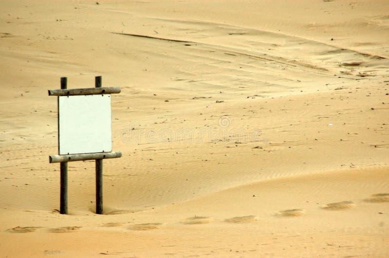 海滩空白符号 免版税库存图片