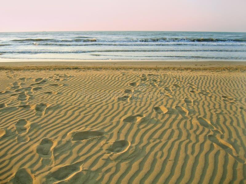 海滩空的早晨 库存照片